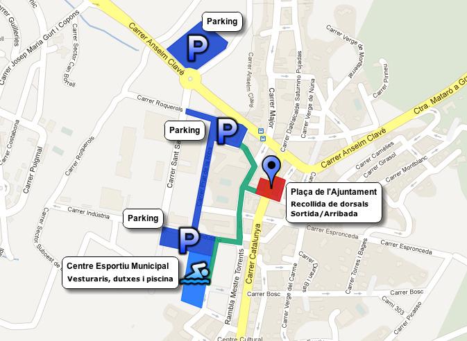 Zones habilitades per la cursa